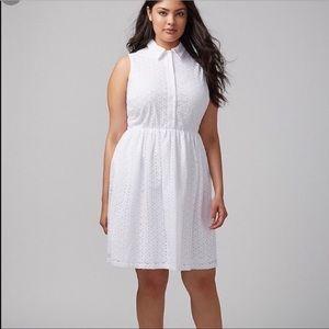 Lane Bryant eyelet dress